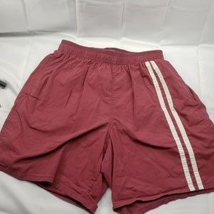 Mens speedo red maroon swim shorts trunks medium